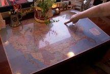 Vintage camper table / tabletop ideas
