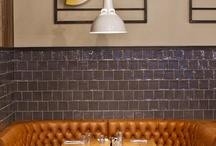 Leather Chesterfields in Restaurants