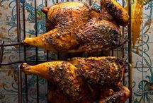 Yellow soice rubbed chicken
