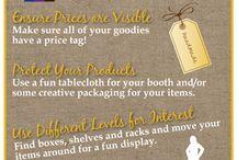 Craft Fair Display Table Ideas