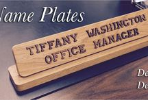 Desk Name Plates / Dress up your desk with a wooden name plate!