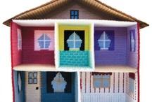 Plastic canvas doll house