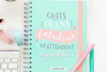 Savoir s'organiser / Organisation, bullet journal, conseils, astuces pour savoir mieux gérer son temps personnel