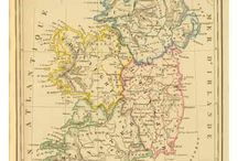 Ireland Maps / Most of present day Ireland is the Republic of Ireland, an independent nation.  Northern Ireland, which is most of the ancient Province of Ulster, is part of the United Kingdom (Great Britain)