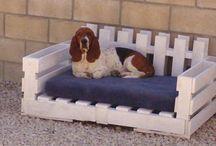 Pallet hondenbedden