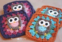 búho agarradera crochet