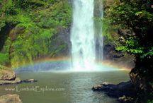 Waterfall in North Lombok / Beautiful waterfalls in North Lombok, Indonesia.