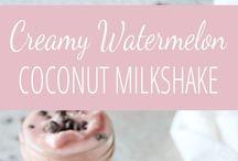 watermelon coconut milkshake