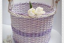pletení z papíru / tvoření
