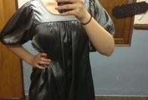 Silky grey peasant blouse Tramp