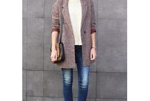 Casual street / Casual chic street style fashion