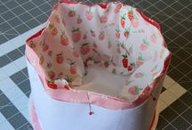 easter fabric baskets