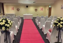 Aisle Carpet Runner / White, Black, Red & Pink Carpet Aisle Runners