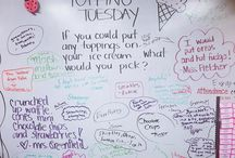 white board messages