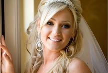 bridal hair with tiara
