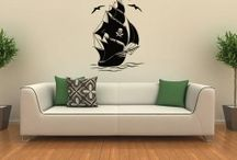 Pirate Adventures / Wall Decal Of Pirates And Their Adventures To Create fun For The Room.
