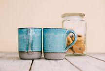 Rustic mugs