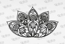 Vinilos Decorativos Mandalas / Vinilos autoadheribles para la decoración de interiores y exteriores