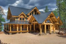 Log Cabin Metal Roofing / The perfect combination of log homes with metal roofing.