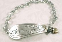 Spoon Bracelets - Vintage Charms & Bracelets / Vintage Spoon Bracelets, Vintage Spoon Bracelets with Charms