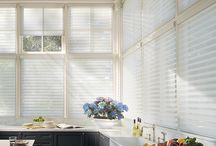 AWF | Silhouette Window Shadings by Hunter Douglas / Silhouette Window Shadings by Hunter Douglas are a beautiful horizontal shades with solid vanes between sheer fabric for added UV protection.