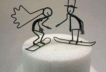 Ski Snowboard inspired weddings
