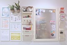 Message Board for behind Kitchen door. / Cute Message Board DIY's