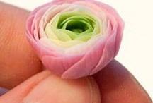 modelované květy