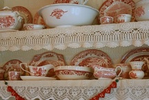 Shabby Chic English Cottage Decor / Soft florals and delicate dishes.  Shabby Chic style will never die.  English cottage decor is timeless as well.
