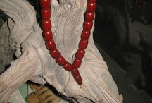 Scarce Rare Rosary Red Cherry Old Genuine German Veins Faturan