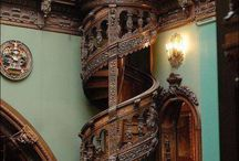 Old and amazing spiral staircase