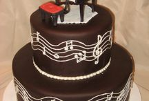 Chocolate music wedding cake