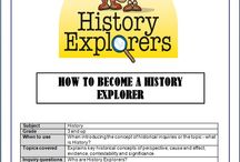 History Explorers Resources For Sale / Look for these products on Designed by Teachers, Teach In a Box and Teachers Pay Teachers