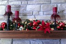 Fireplace mantle decorations / by Melissa Teaney