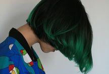 Pastel/colour short hair