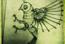 steampunk bird