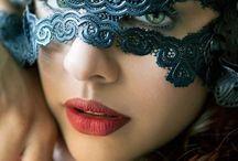 lace latex mask