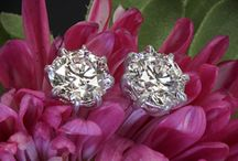 Diamond Stud Earrings / A collection of the finest diamond stud earrings custom made to suit your special occasion.