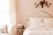 peach color bedroom