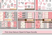 Winter inspirations (clipart, printable, craft) / Winter inspirations (clipart, printable, craft)