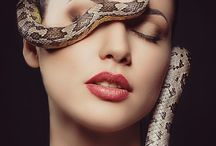 Portraits with snakes