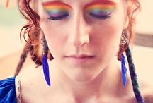 Eco-chic 80's Rainbow Bright Love / I love the idea of a rainbow wedding.  I think this inspiration would work amazingly for chicas who loved Rainbow Bright growing up, artists who find inspiration in color and same-sex couples who are proud of what the rainbow represents! :)