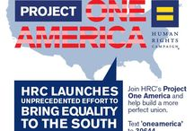 Project One America / HRC's Project One America is a comprehensive, multi-year campaign to dramatically expand LGBT equality in the South through permanent campaigns in Mississippi, Alabama and Arkansas. / by Human Rights Campaign