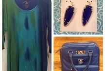 Apparel at The Cedar Chest / #Chevron Blouse Orange/Turquoise Blouse