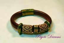 Leather bracelet, leather regaliz