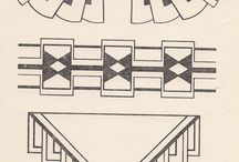 Art Deco quilting designs for piecing