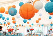 Orange Türkis Wedding