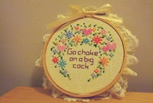 Funny cross stitching ideas / by Jenny Chancellor