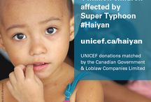 Typhoon Haiyan in the Philippines / You can help the 4 million children affected by super typhoon #Haiyan by making a donation today. www.unicef.ca/haiyan. Donations matched by the Government of Canada and Loblaw Companies Limited.