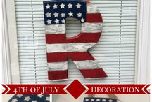 Fourth of July Inspirations / Make the entryway to your home a patriotic work of art this Fourth of July.
